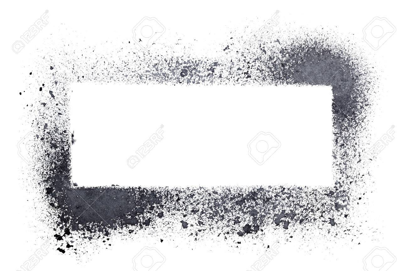 Blank Stencil Frame Isolated On The White Background Stock Photo ...