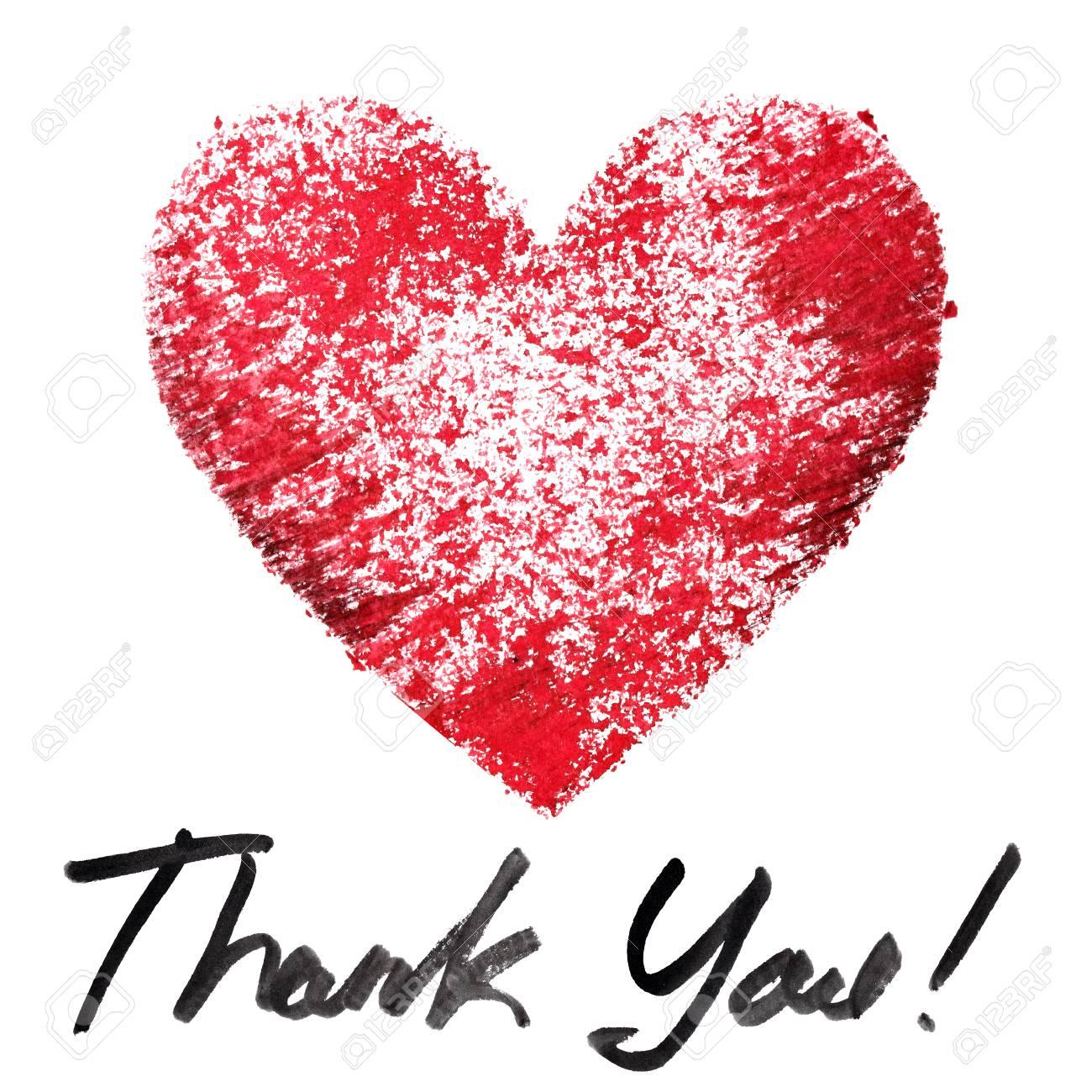 Danke. Red Schablone Herz Und Schrift Auf Dem Weißen Hintergrund ...