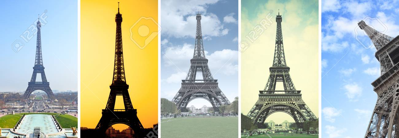 The Eiffel Tower In Paris Set Of Hd 16 9 Screen Wallpapers Stock Photo Picture And Royalty Free Image Image 109774614