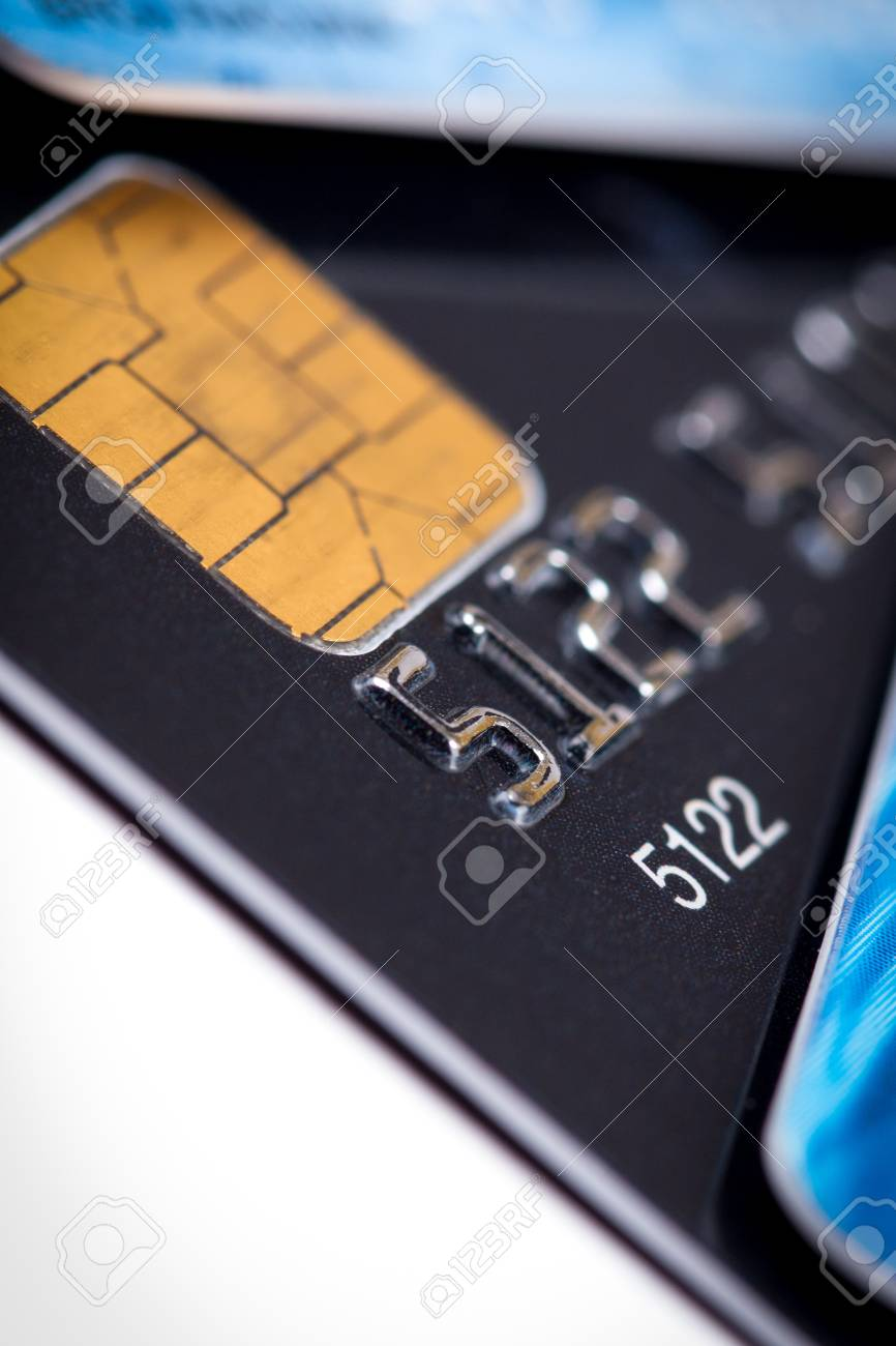 credit cards isolated on white background Stock Photo - 18986505