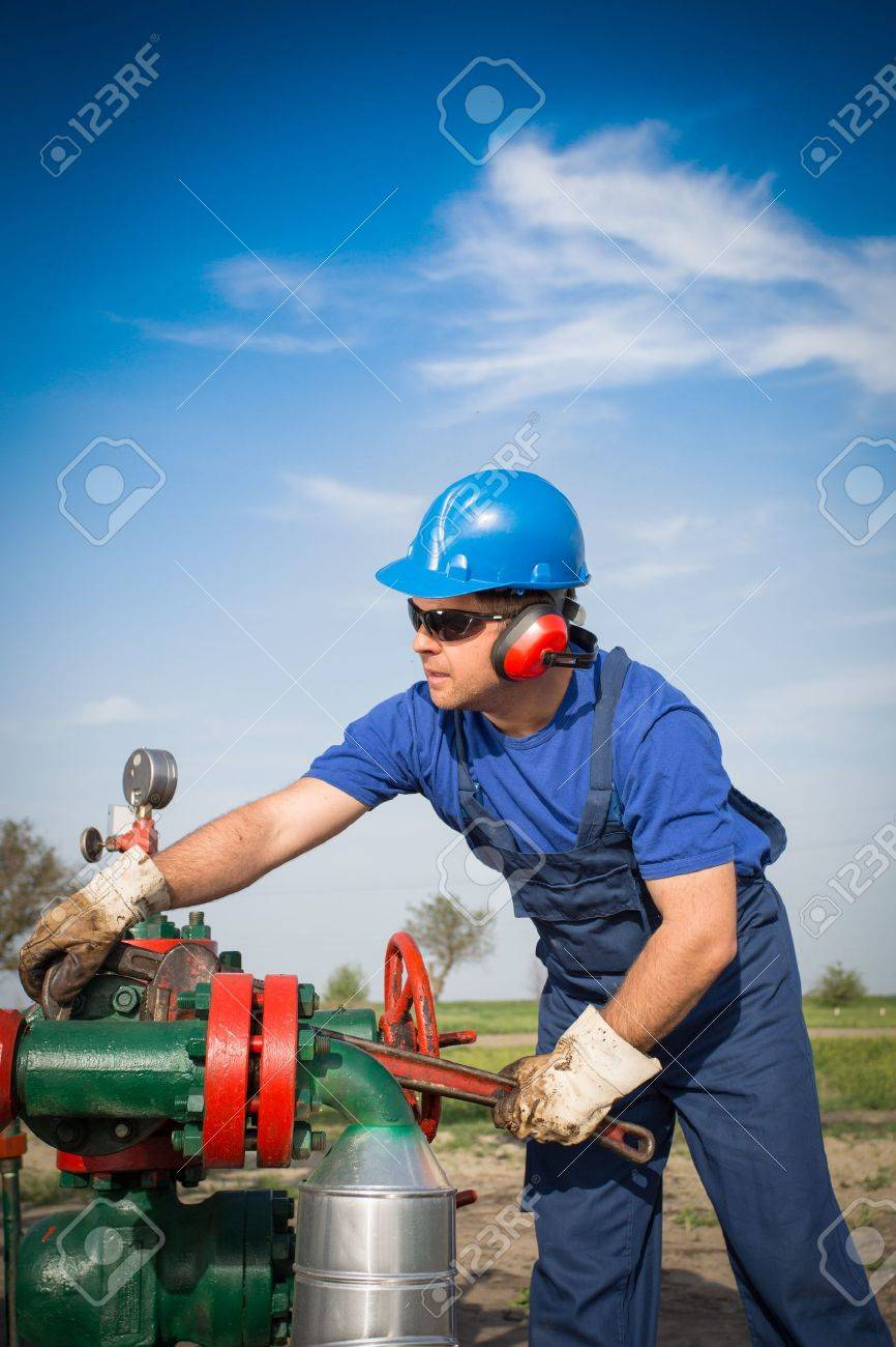 Oil engineer Stock Photo - 19587535