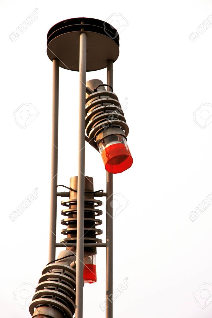 Street Lamps Of Modern Steel Design In Budapest Stock Photo ... for Modern Street Lamps  165jwn