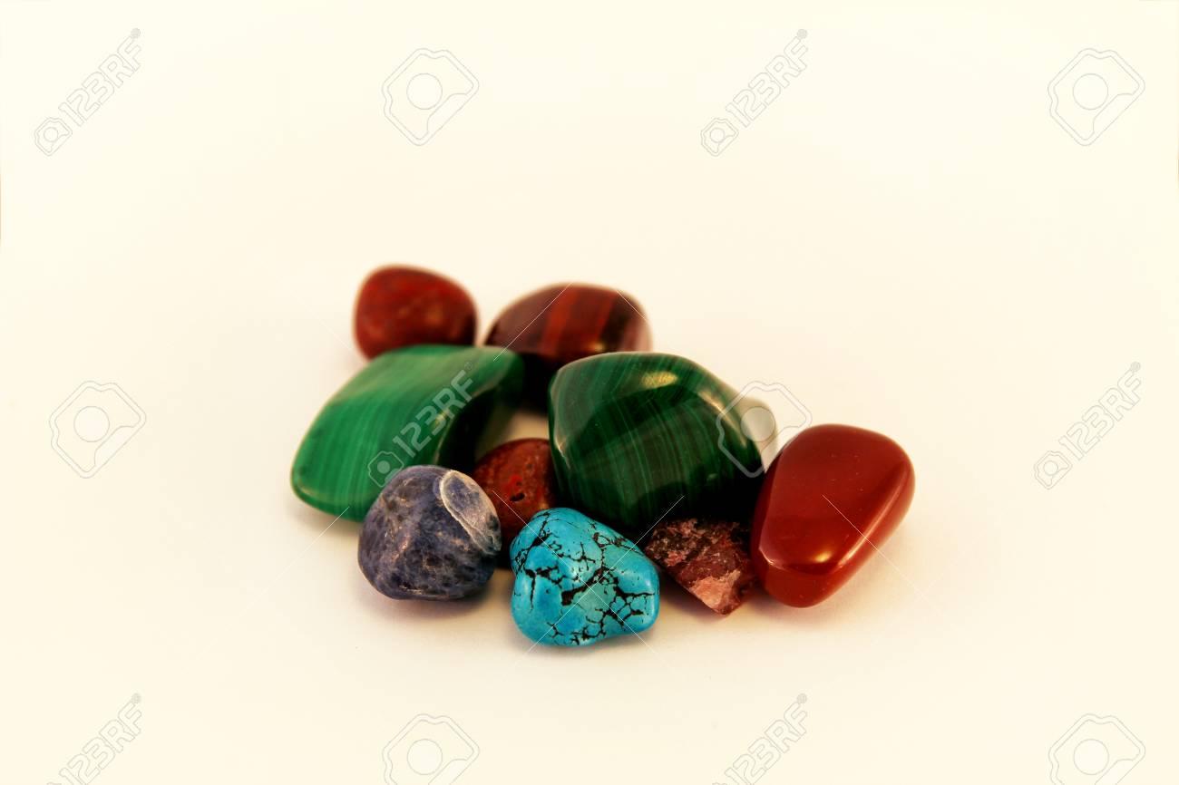 Semi Precious Stones Crystal Stone Types Healing Stones Stock