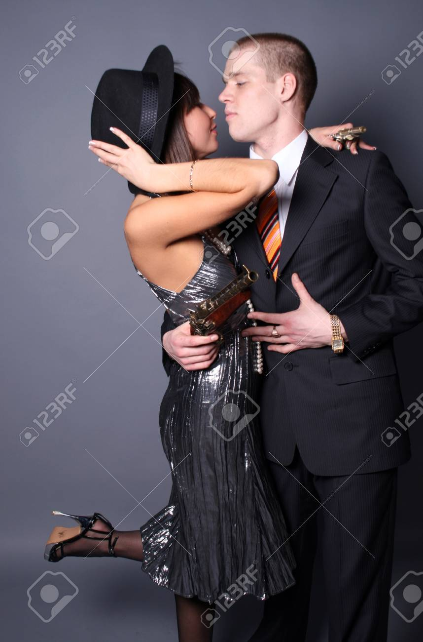 Couple of gangsters Stock Photo - 6951780