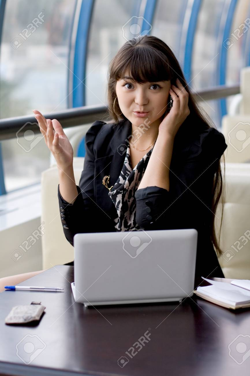 Businesswoman at work Stock Photo - 10142616