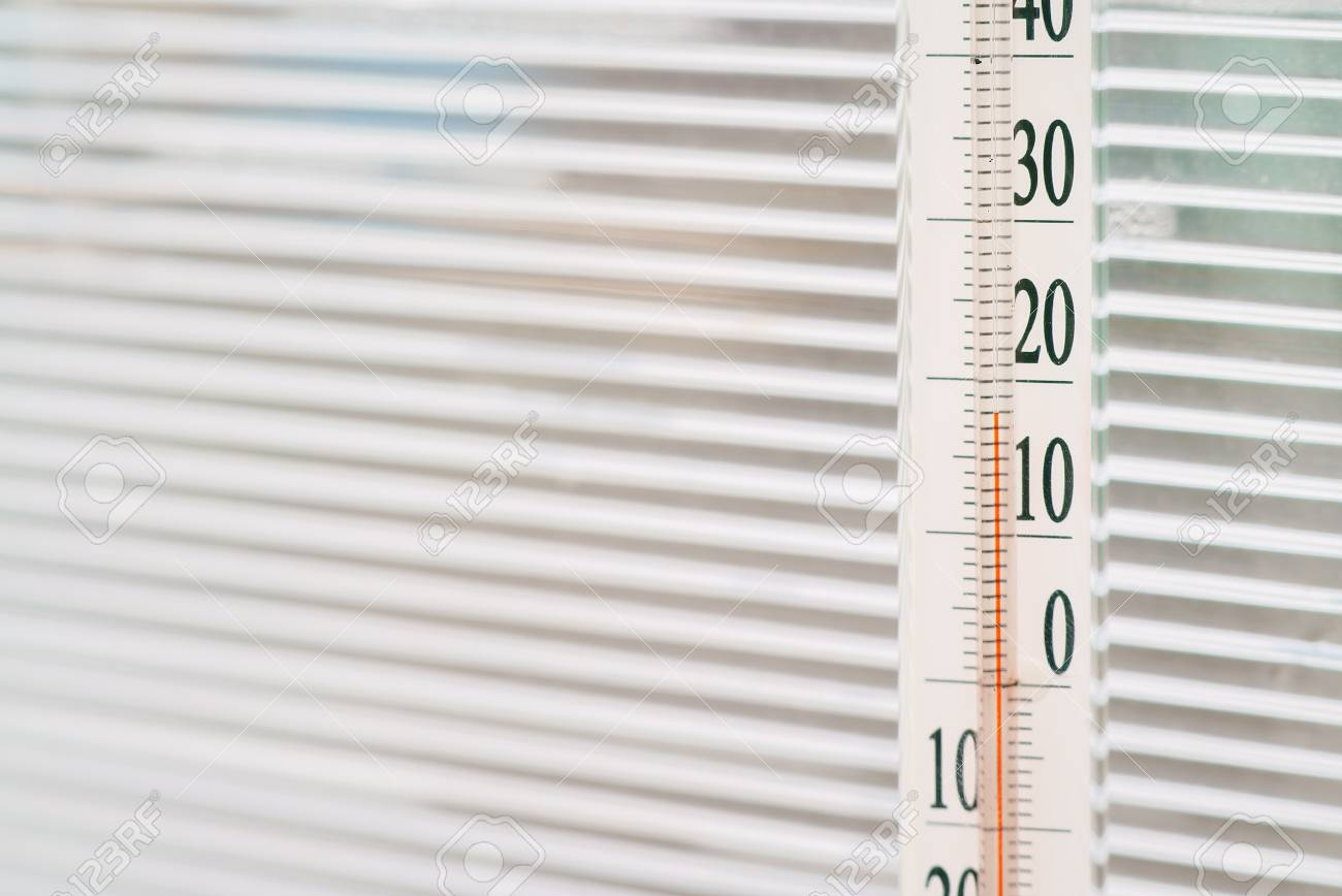 The Temperature In Greenhouse Is 18 Degrees Celsius Stock Photo