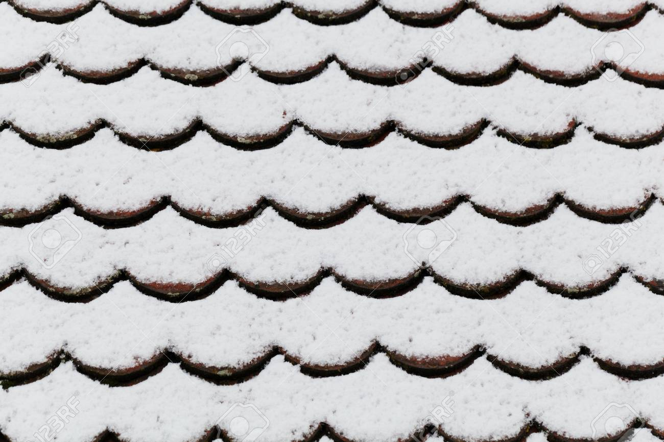 Texture Of A Snow Covered Brick Roof Stock Photo Picture And Royalty Free Image Image 95092883