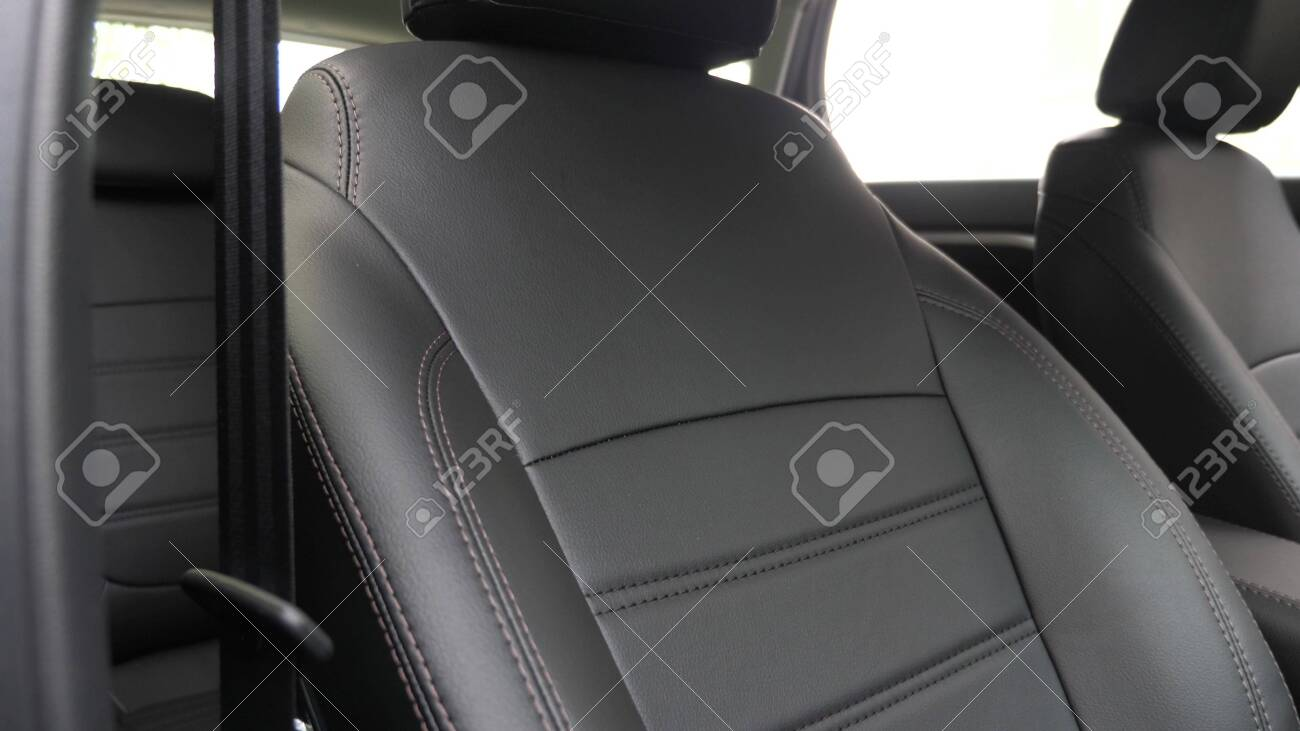 Black Leather Seat Covers In The Car Beautiful Leather Car