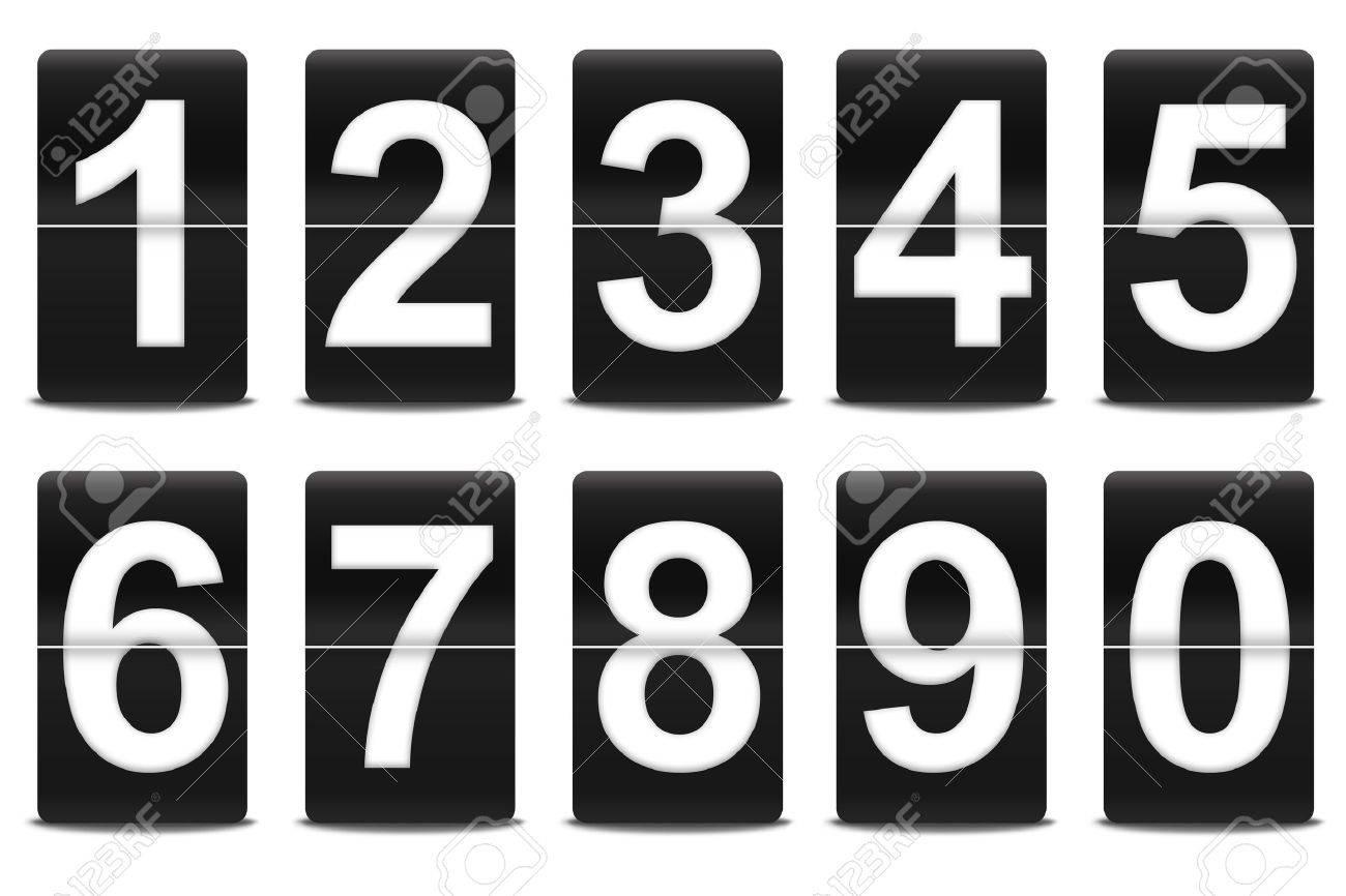 Set of flip numbers like airport - 10727021