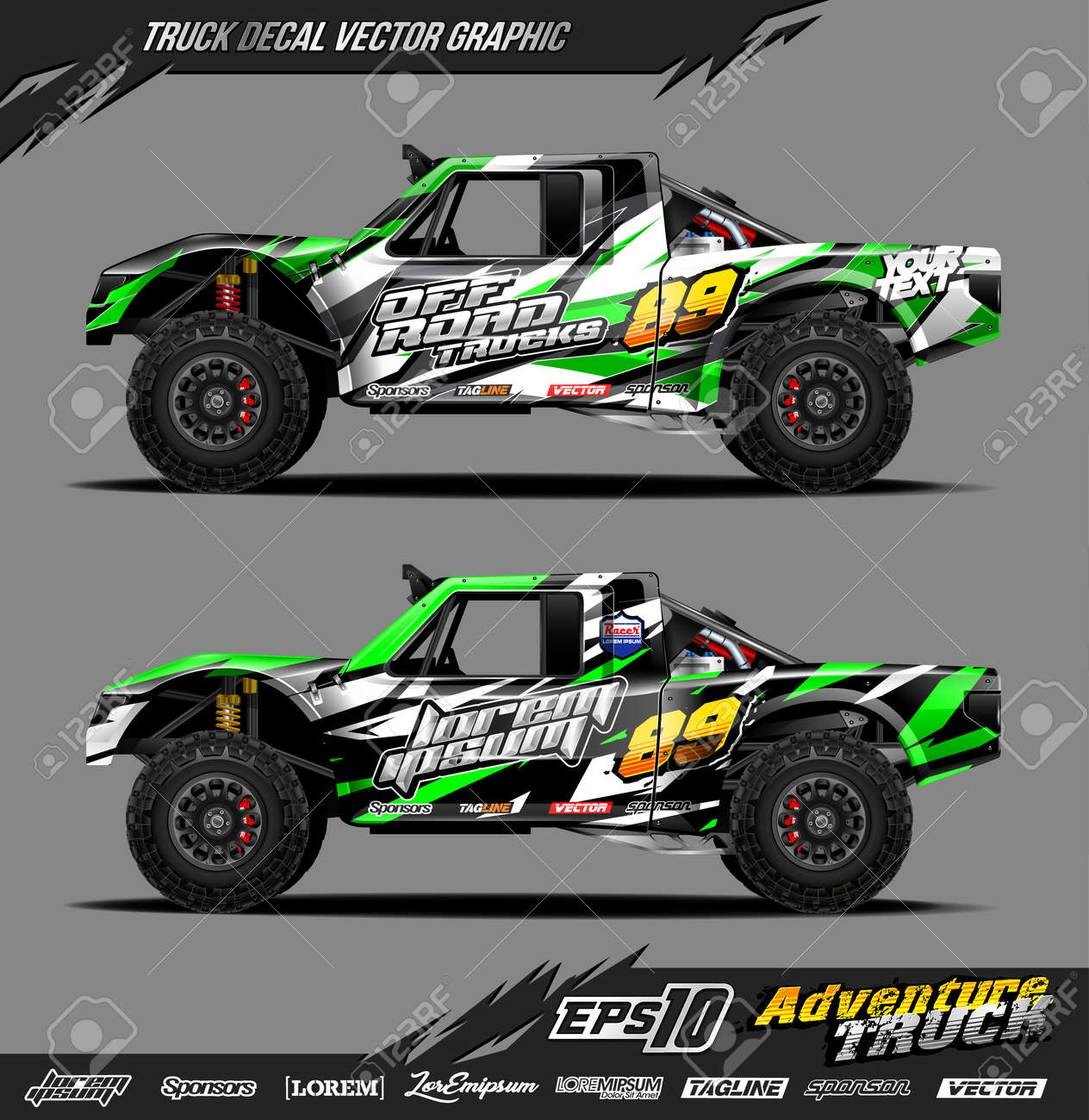 Speed off road truck decal designs - 157366455
