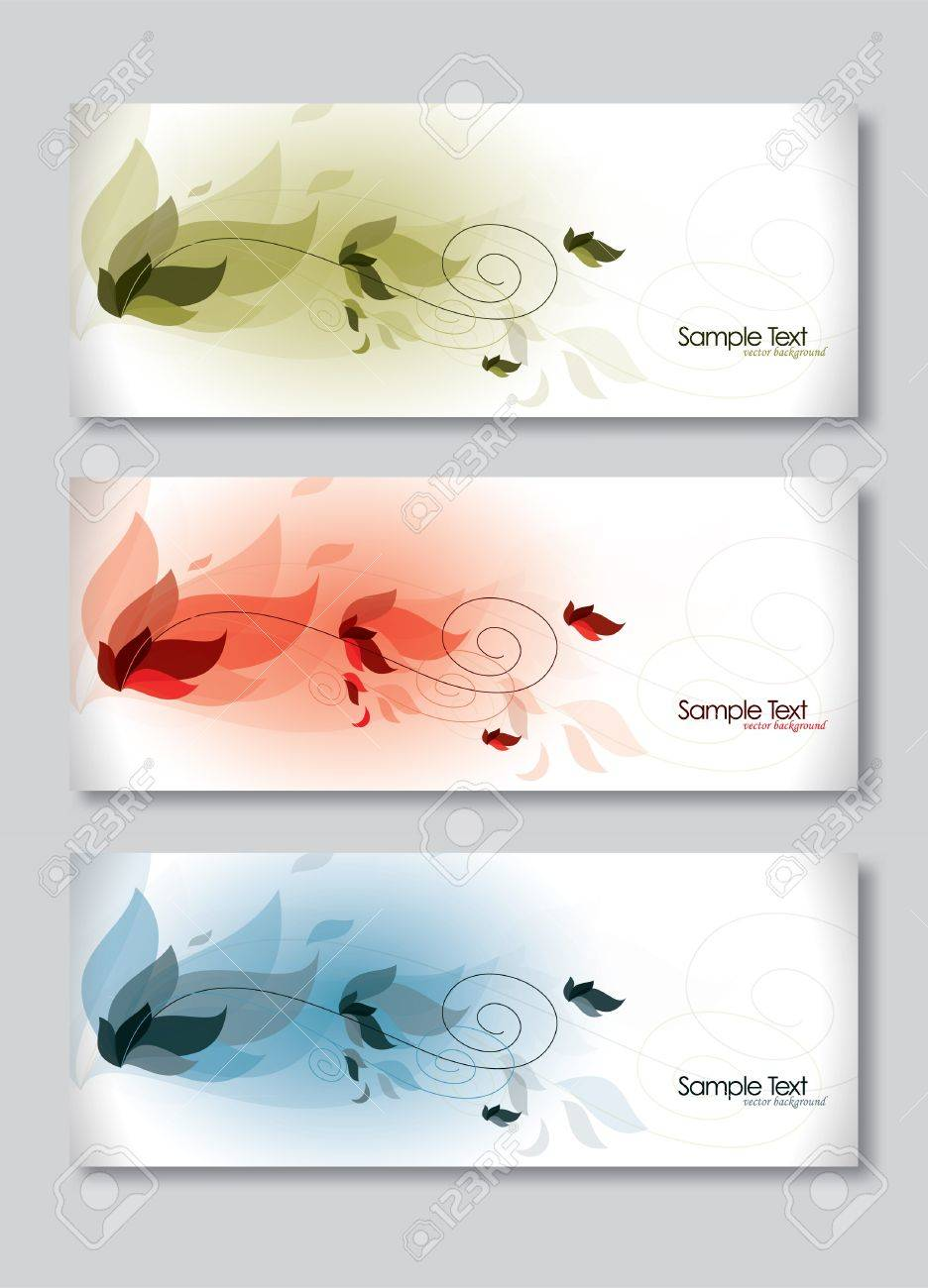 Set of Three Banners  Abstract Vector Headers Stock Vector - 14372054