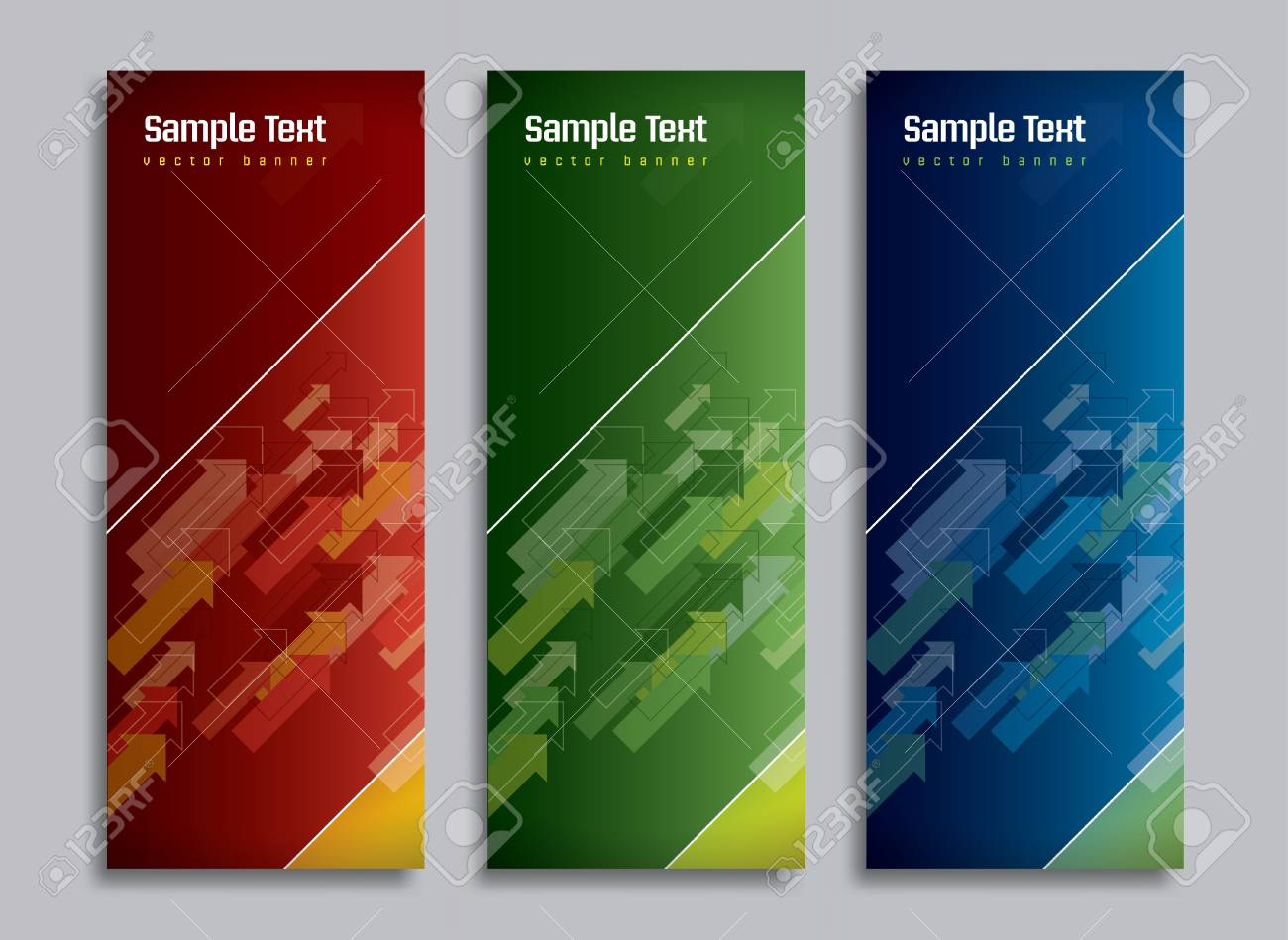 Set of Three Banners  Abstract Vector Headers Stock Vector - 14372052