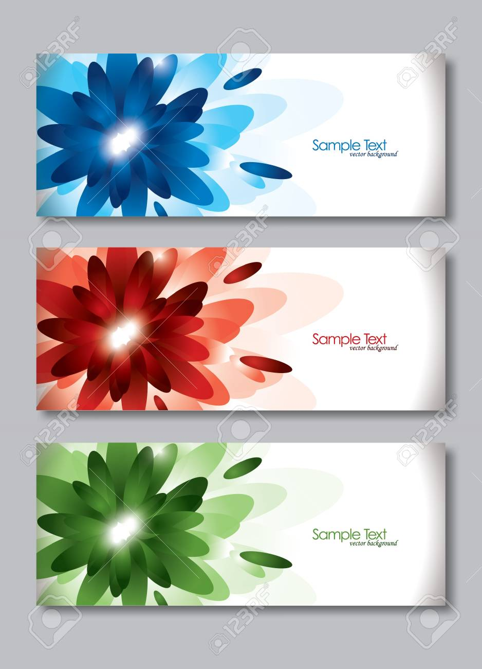 Set of Three Banners  Abstract Vector Headers Stock Vector - 14372072