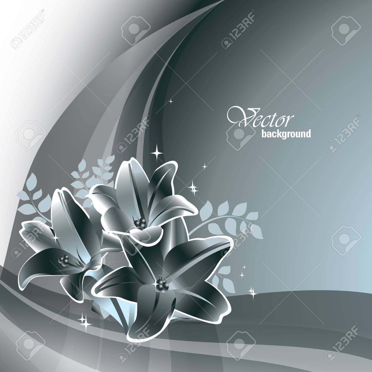 Floral Background Stock Vector - 14692394