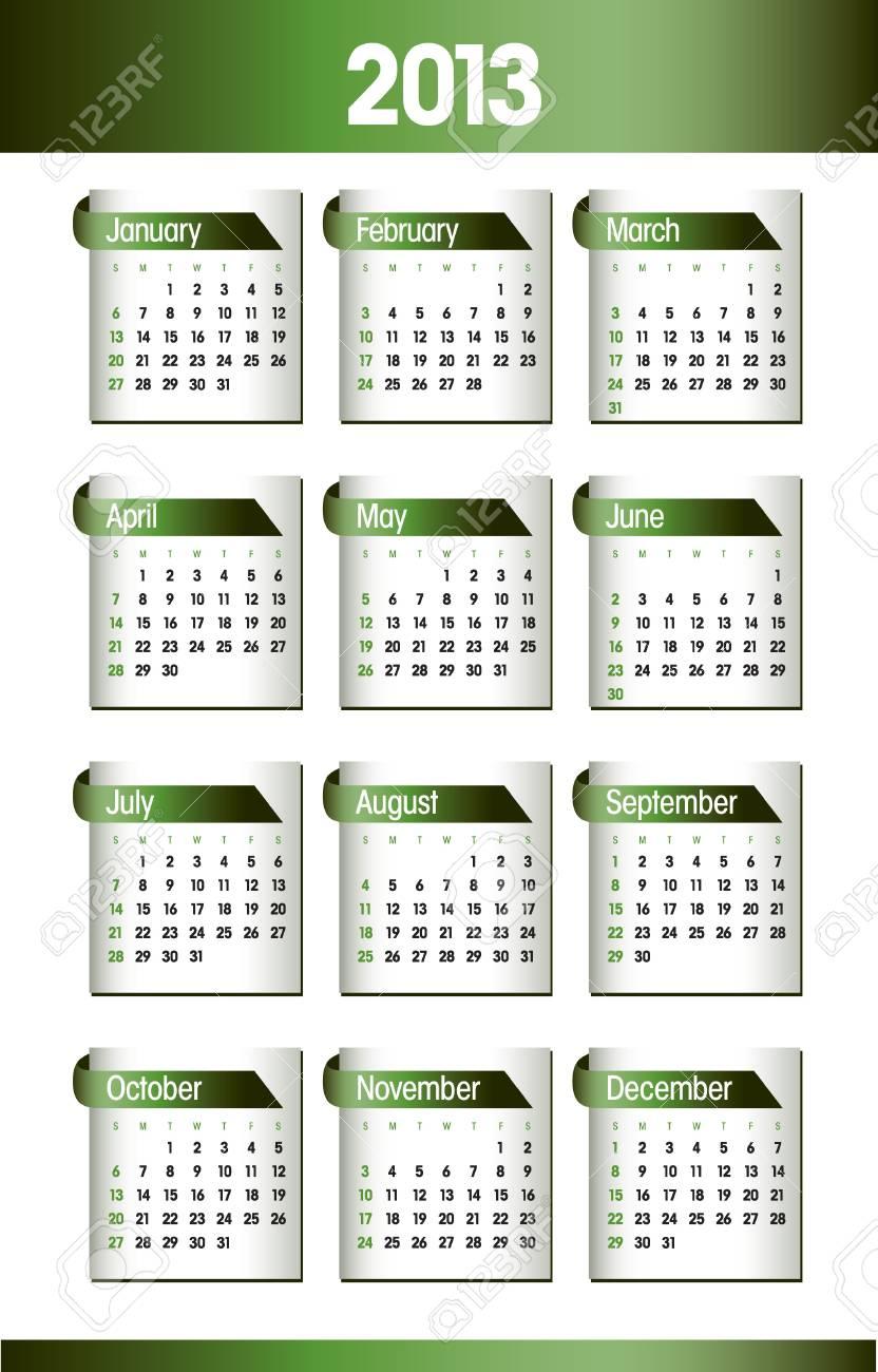 2013 Calendar  Design Stock Vector - 14985750