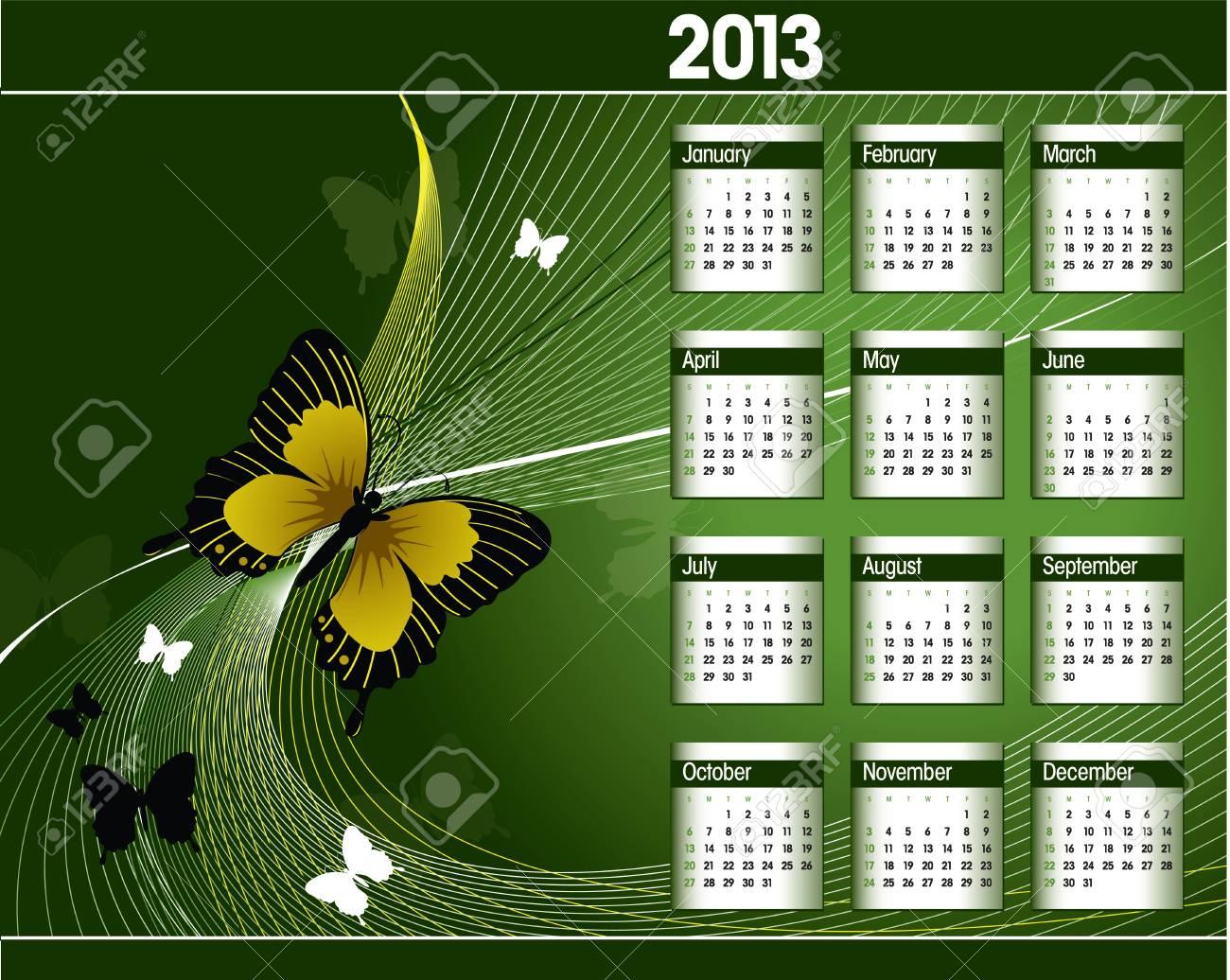 2013 Calendar Stock Vector - 14987353