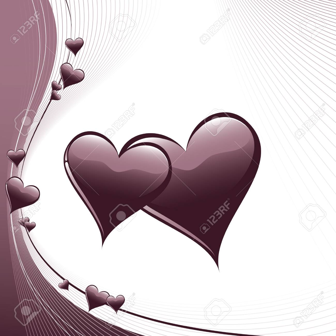 Valentine Day Background  Hearts Stock Vector - 17628124
