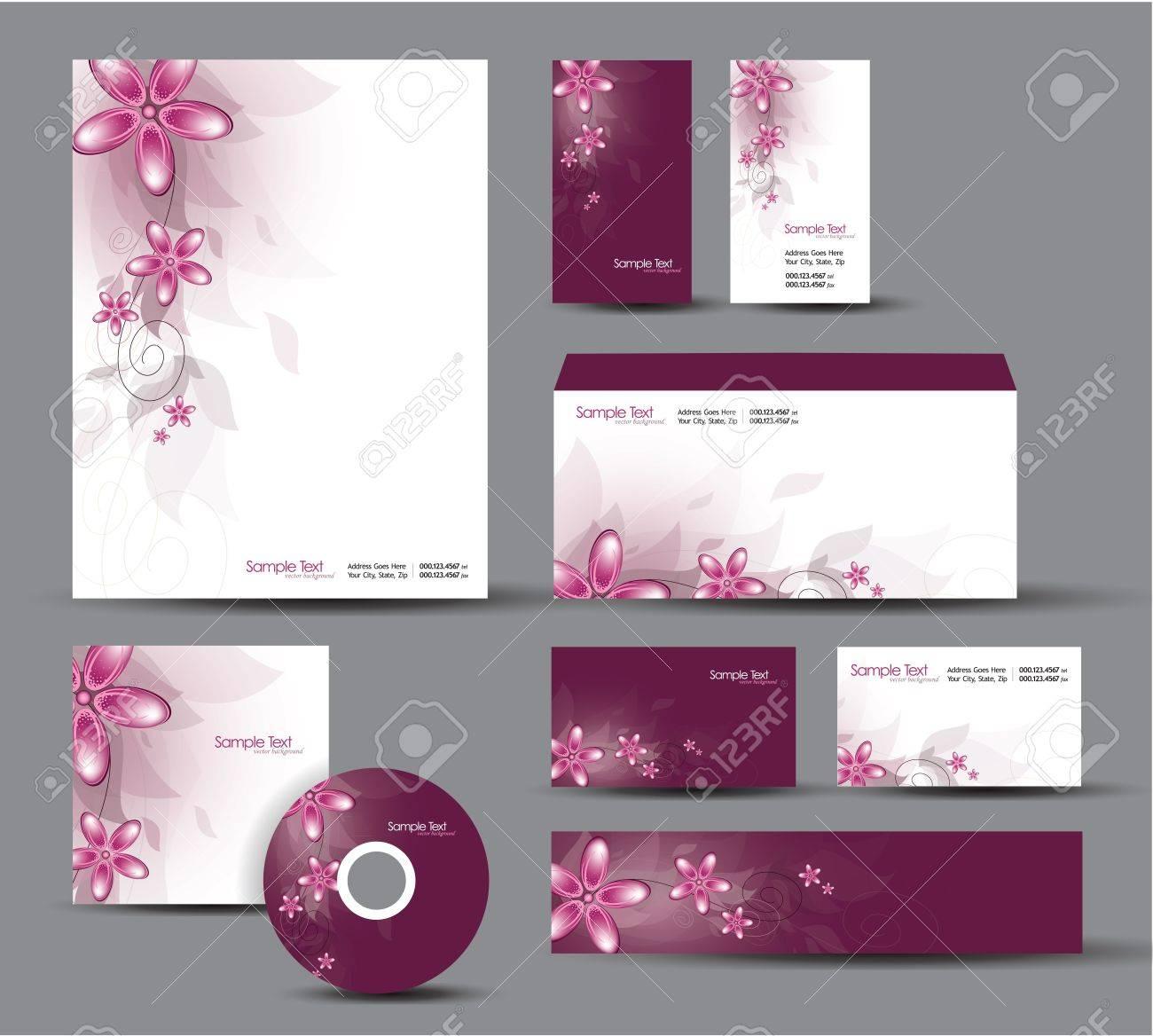 Modern Identity Package  Letterhead, business gift cards, envelope, cd dvd, header banner Stock Vector - 17946900