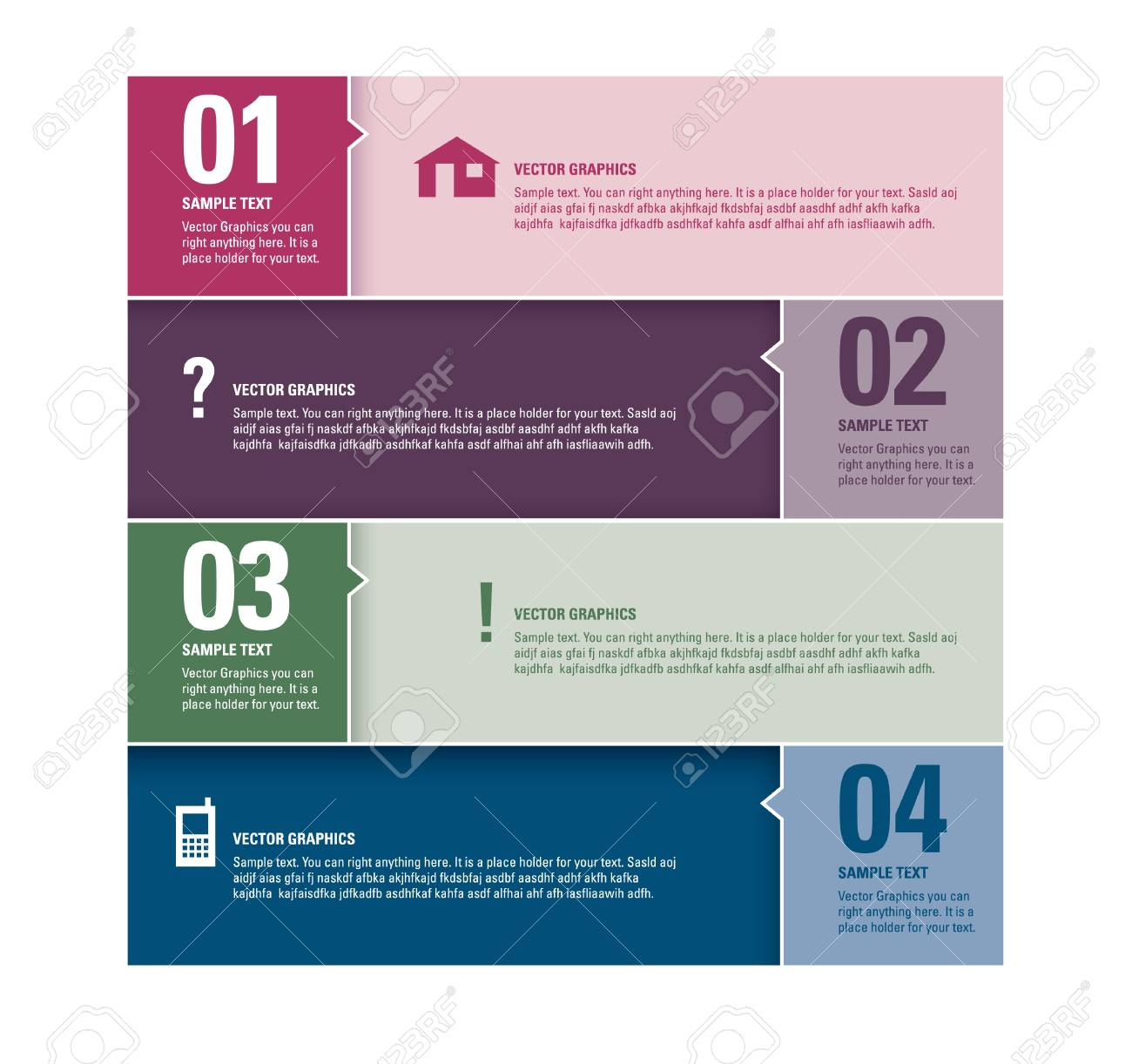 Modern Vector Design Template  Numbered Banners  Graphic or Website Layout Stock Vector - 17946892