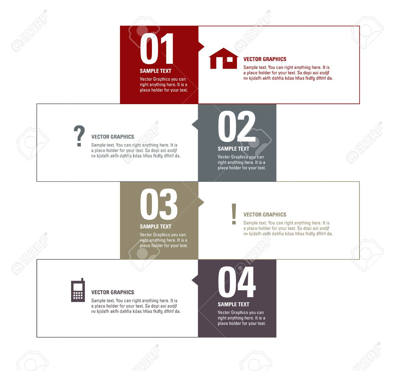 Modern Vector Design Template  Numbered Banners  Graphic or Website Layout Stock Vector - 17946884