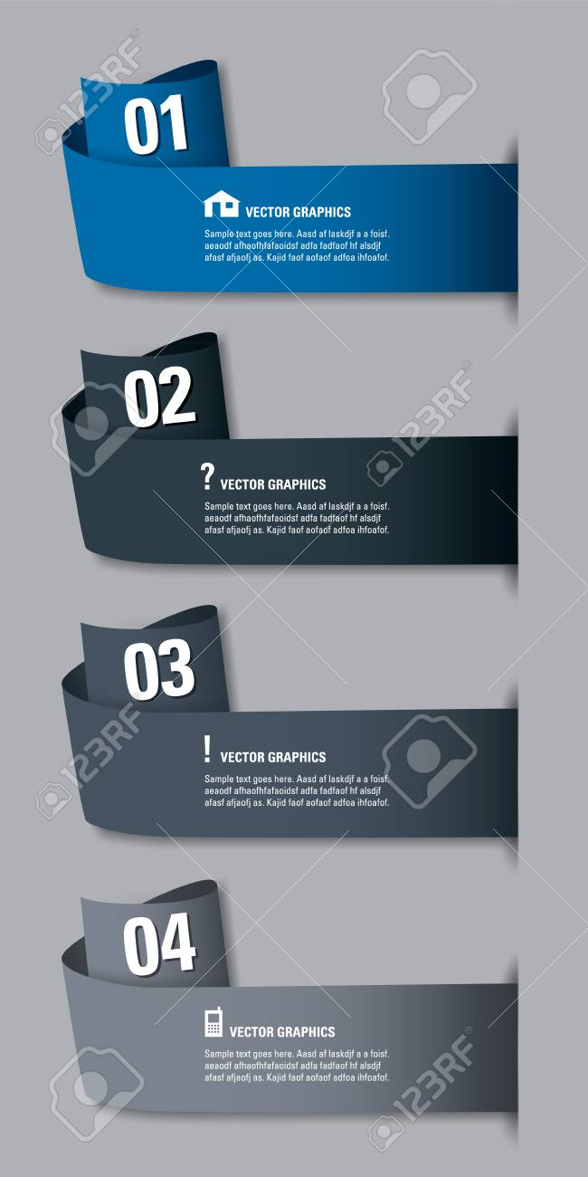 Modern design template numbered banners graphic or website royalty modern design template numbered banners graphic or website layout stock vector 25629800 colourmoves