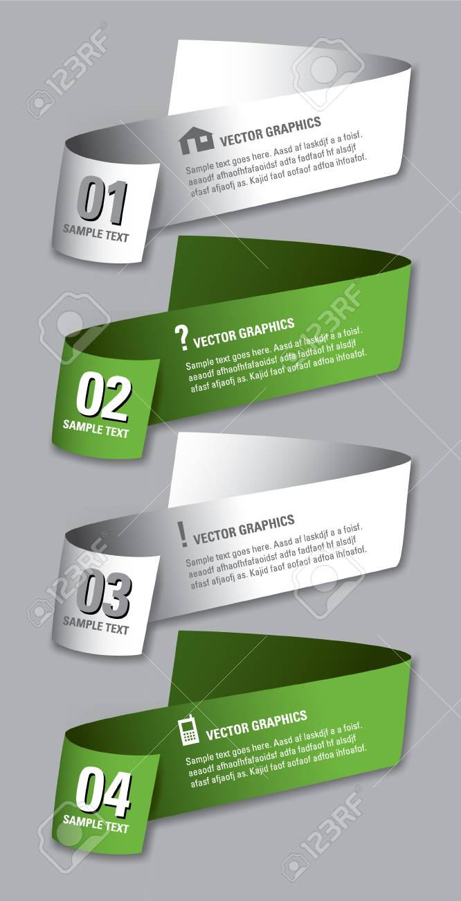 Infographics Numbered Banners Vector Modern Illustration Royalty ...