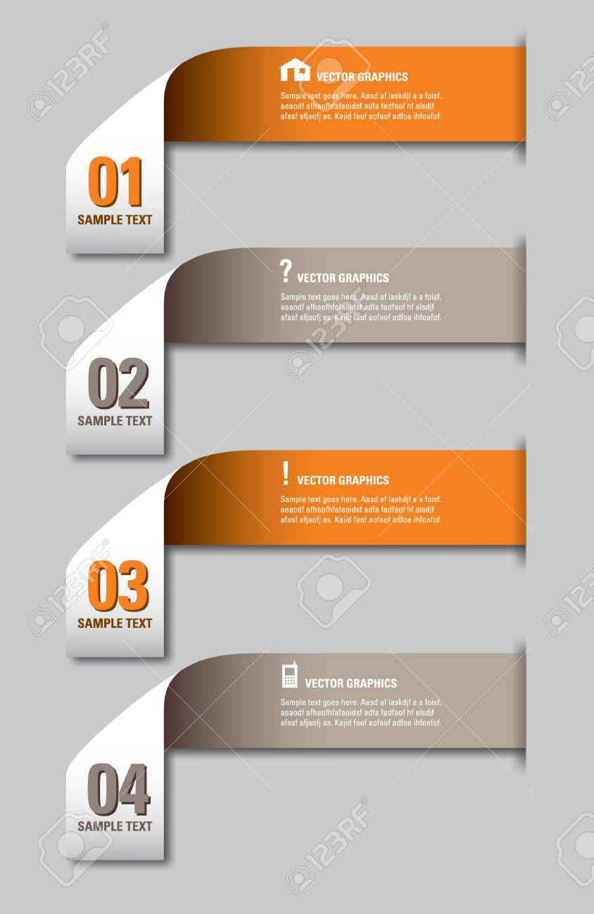 Infographics Numbered Banners Royalty Free Cliparts, Vectors, And ...