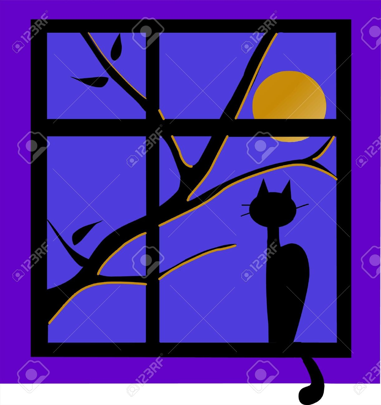 Window at night from outside - Night Outside The Window The Black Cat Outside The Window At Night