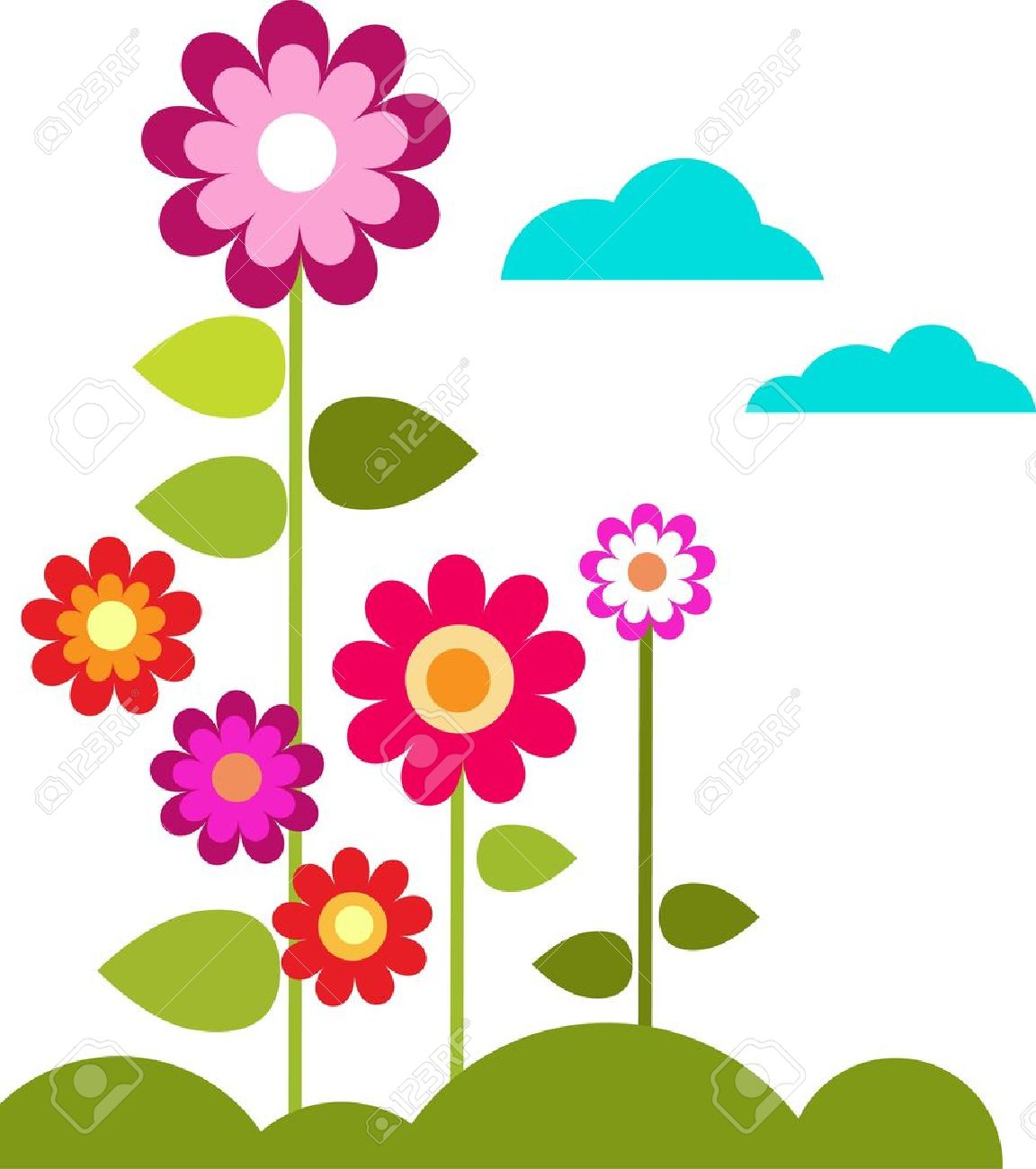 flowers cartoon stock photos royalty free flowers cartoon images