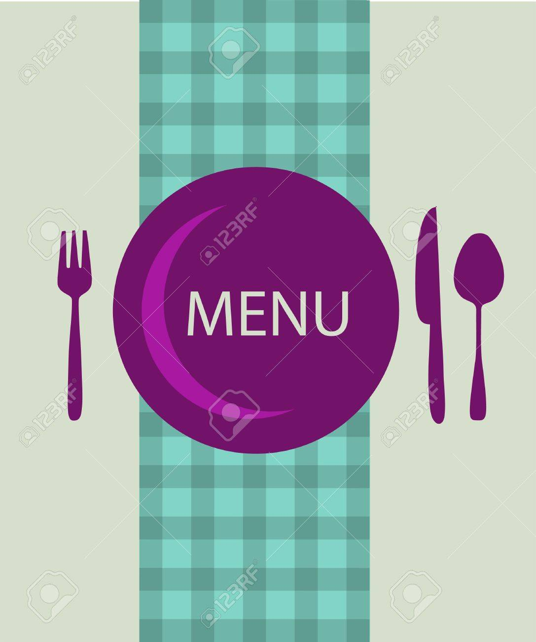 restaurant menu design with table utensil , vector illustration