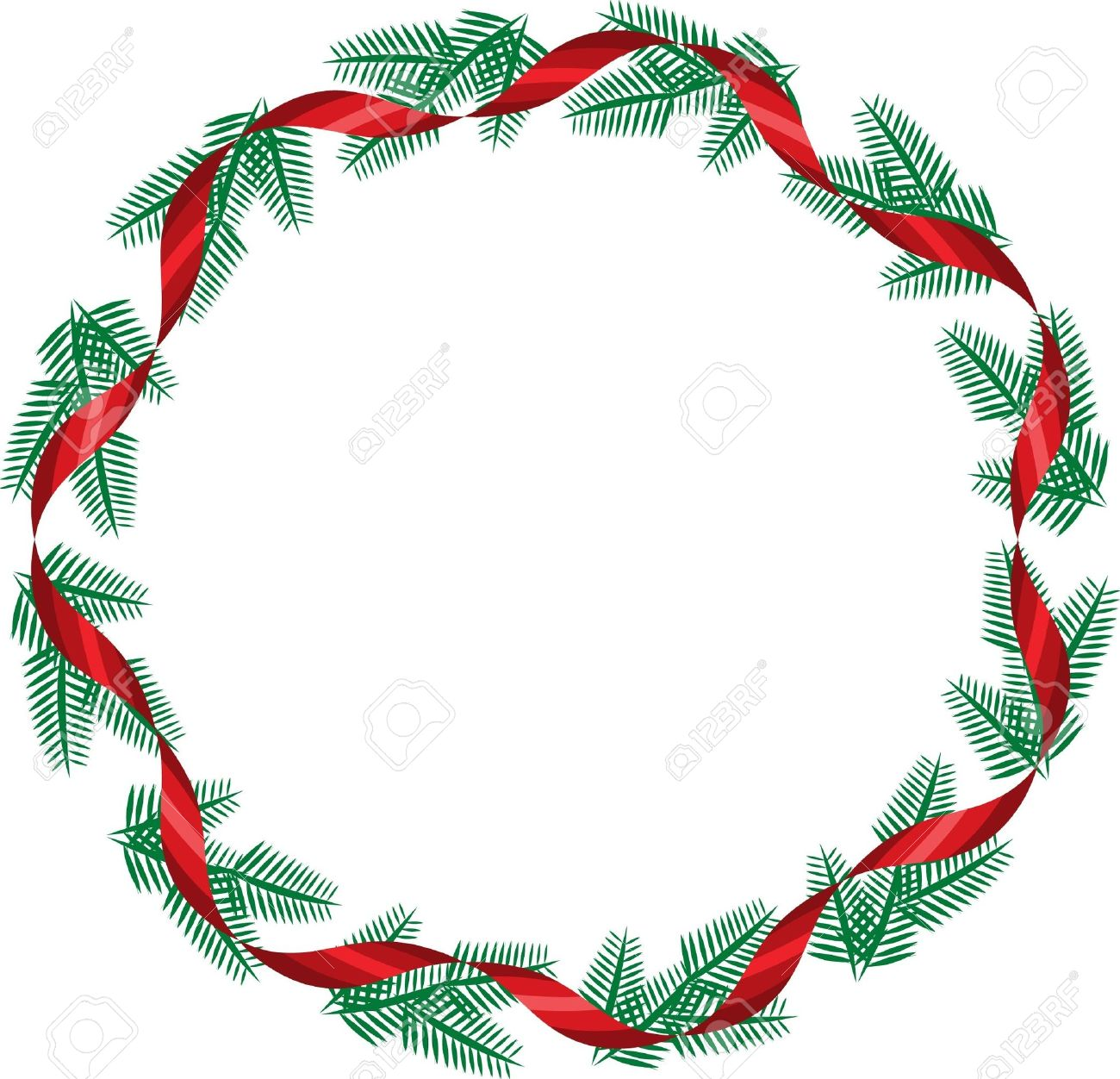 3,205 Christmas Wreath Gold Cliparts, Stock Vector And Royalty ...