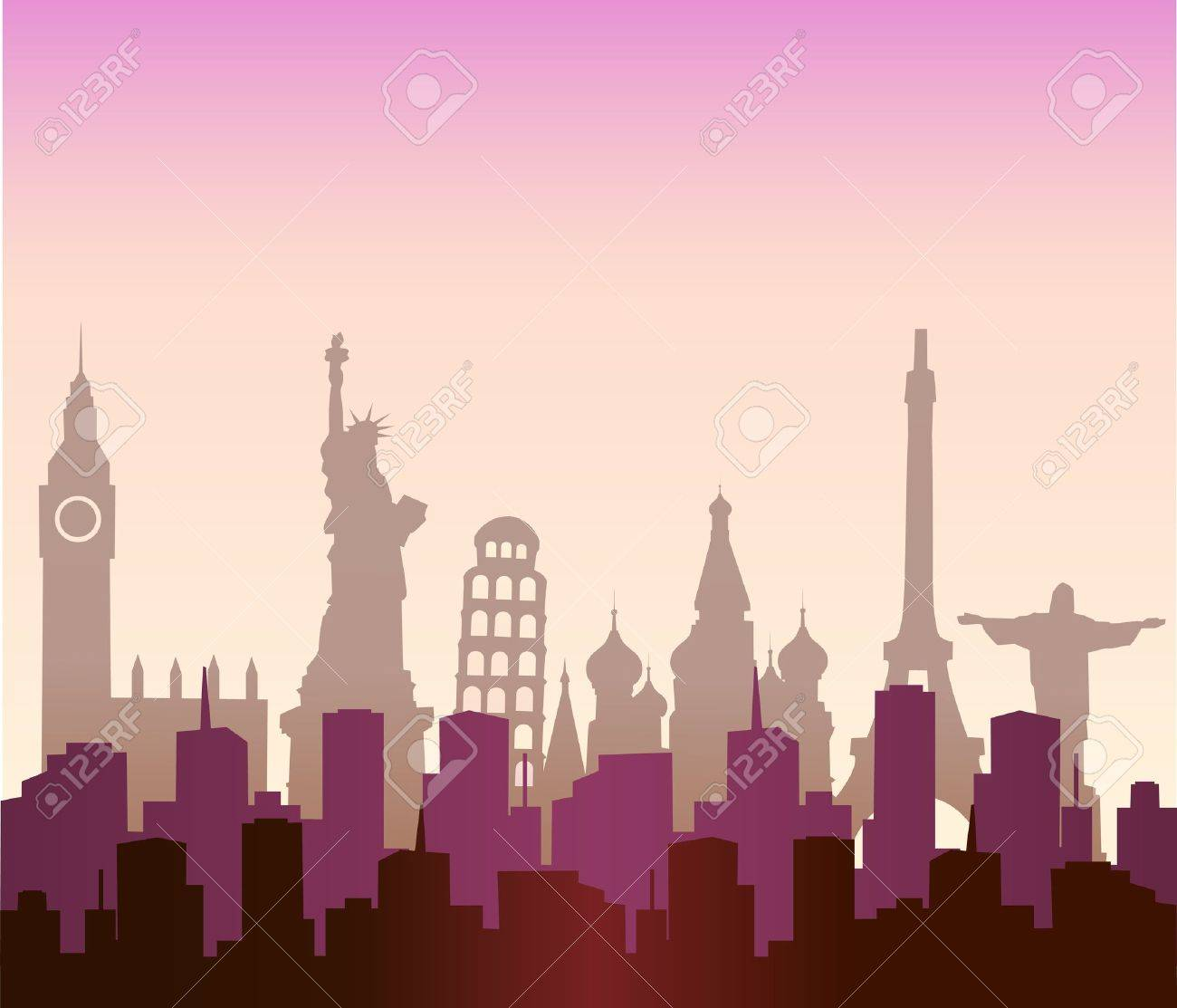 cities of the world - 10613524