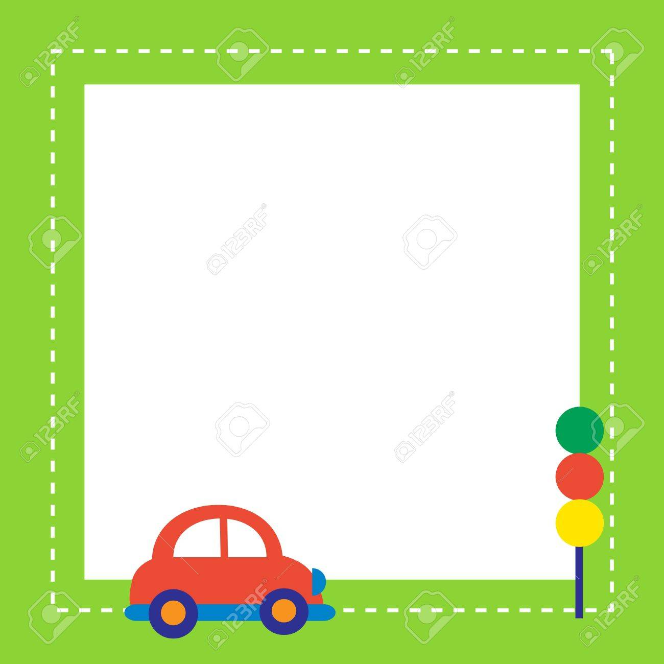 red car with traffic light Stock Vector - 11555382