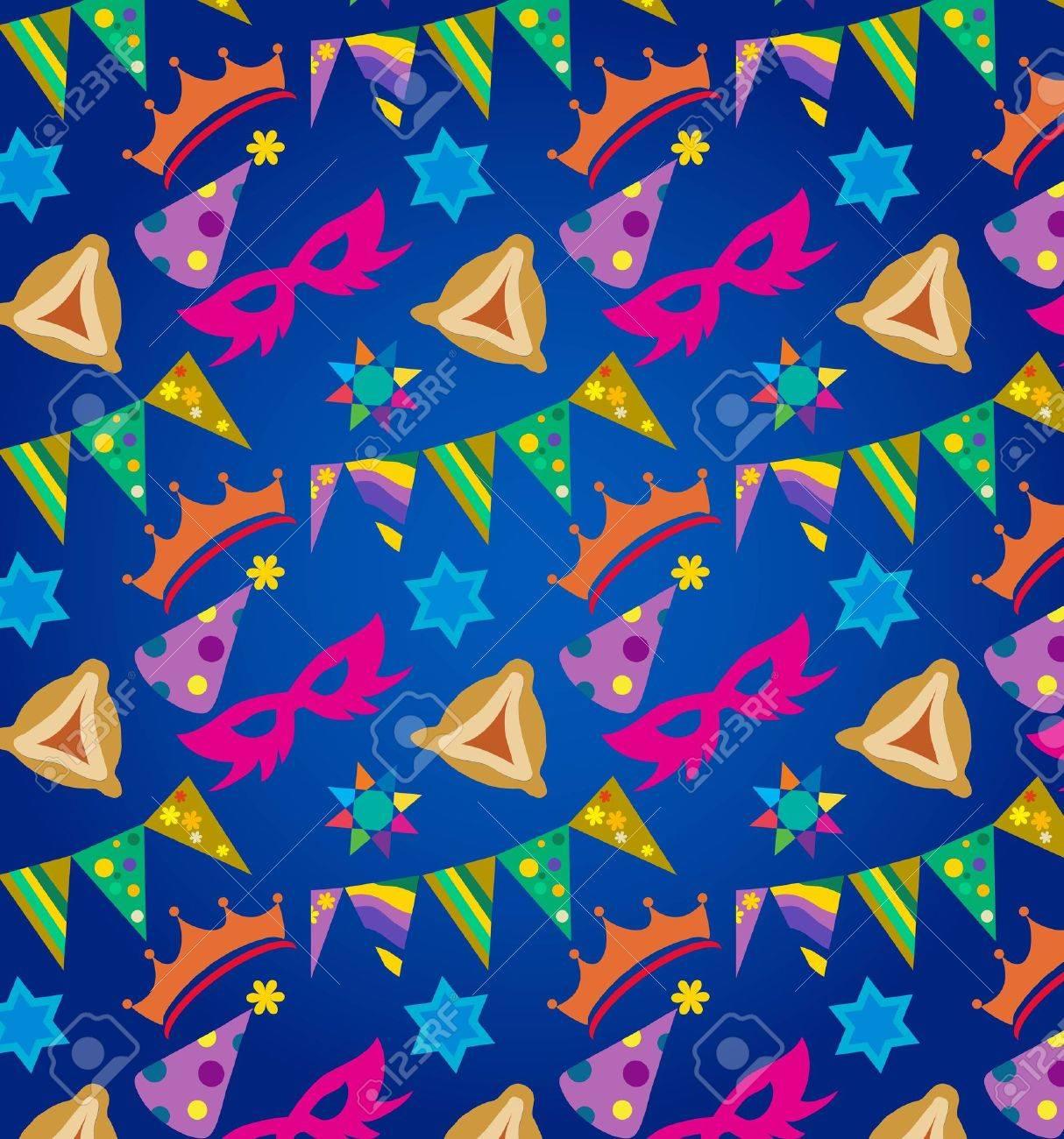 Purim background , jewish holiday Stock Vector - 12352166