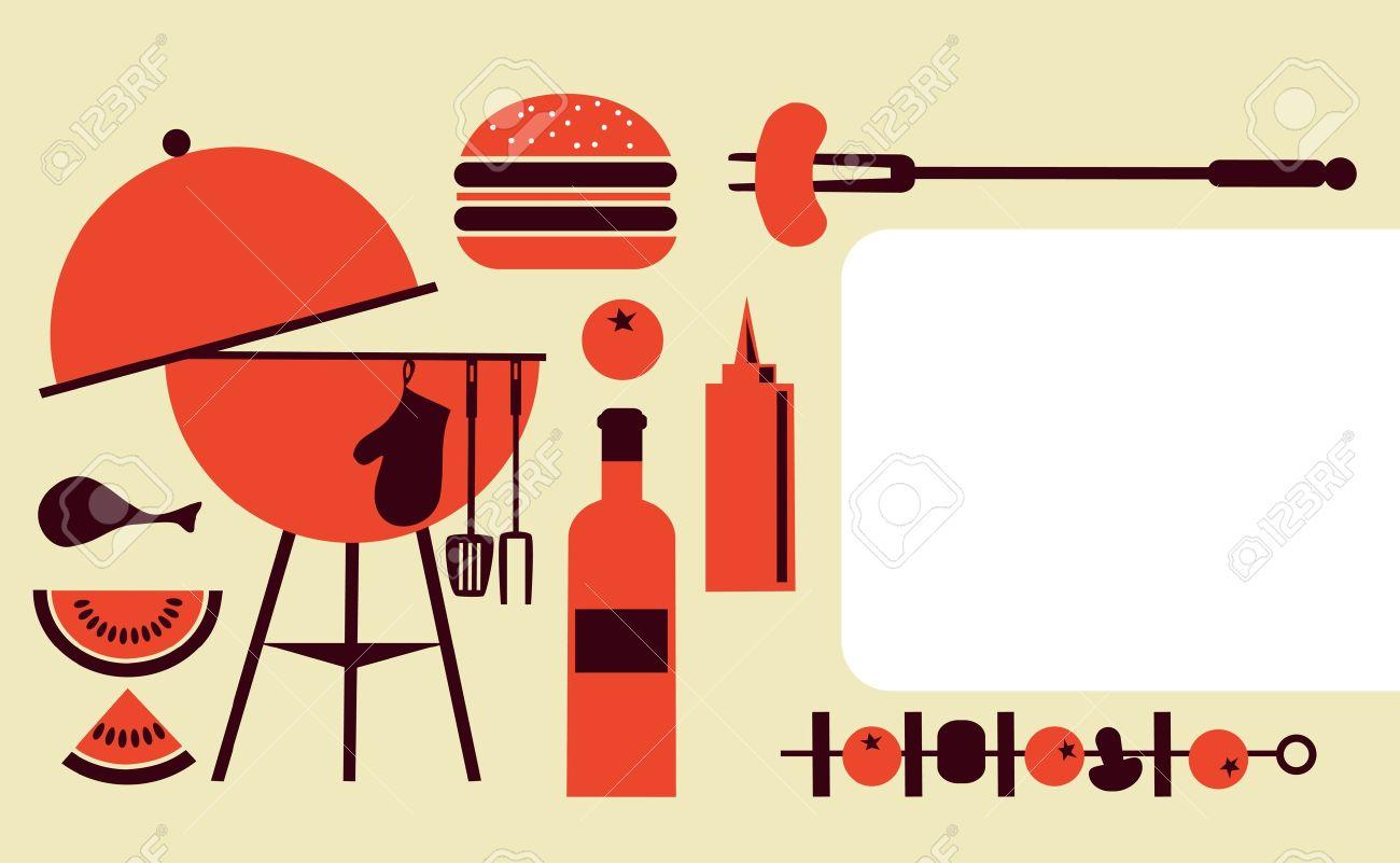 grill party-einladung vorlage lizenzfrei nutzbare vektorgrafiken, Einladung