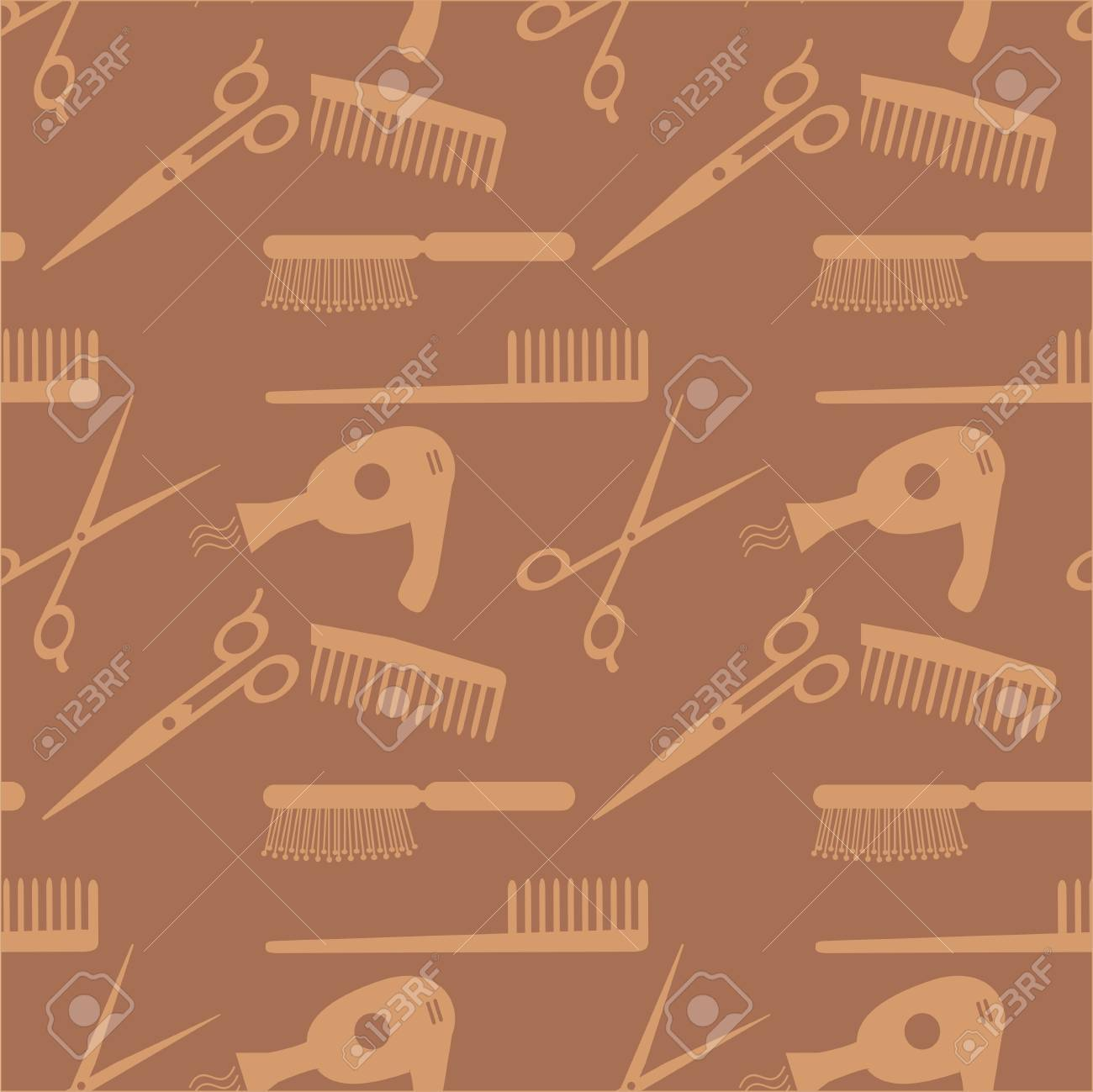 Hair accessories pattern Stock Vector - 15996008