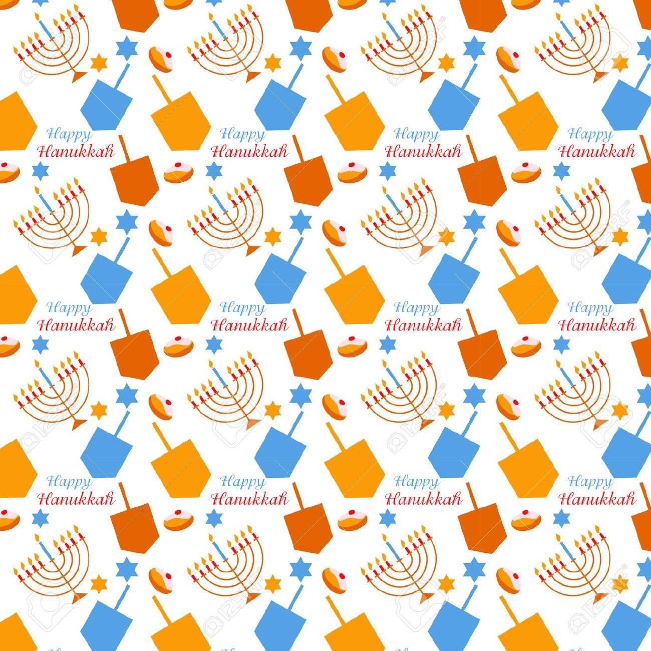 Uncategorized Chanukah Symbols pattern with hanukkah symbols colorful vector illustration stock 32424958