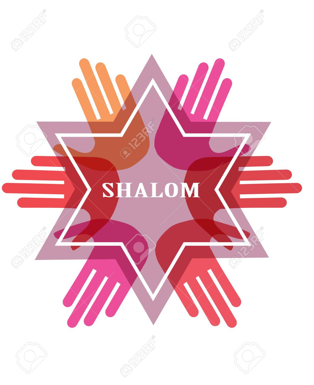 Shalom peace in hebrew jew star symbol of judaism religion shalom peace in hebrew jew star symbol of judaism religion israel vector biocorpaavc