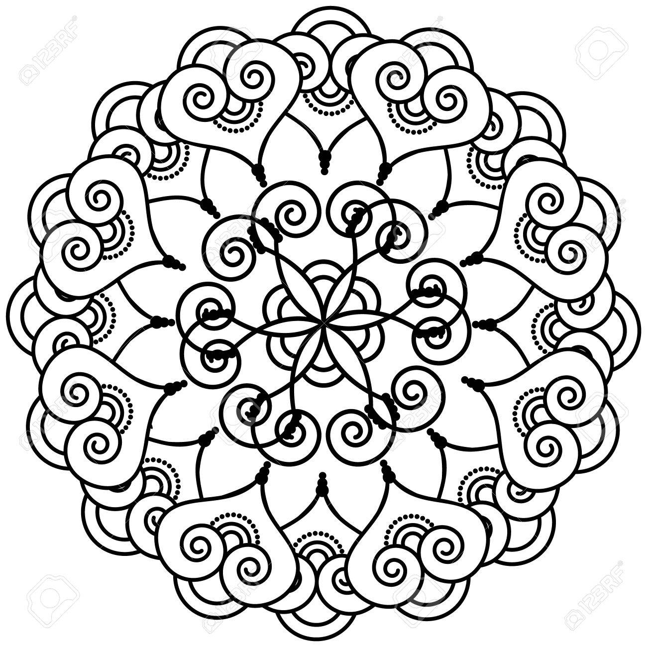 indian henna tattoo inspired flower shape with inner floral star rh 123rf com Henna Flower Vector Henna Tattoo