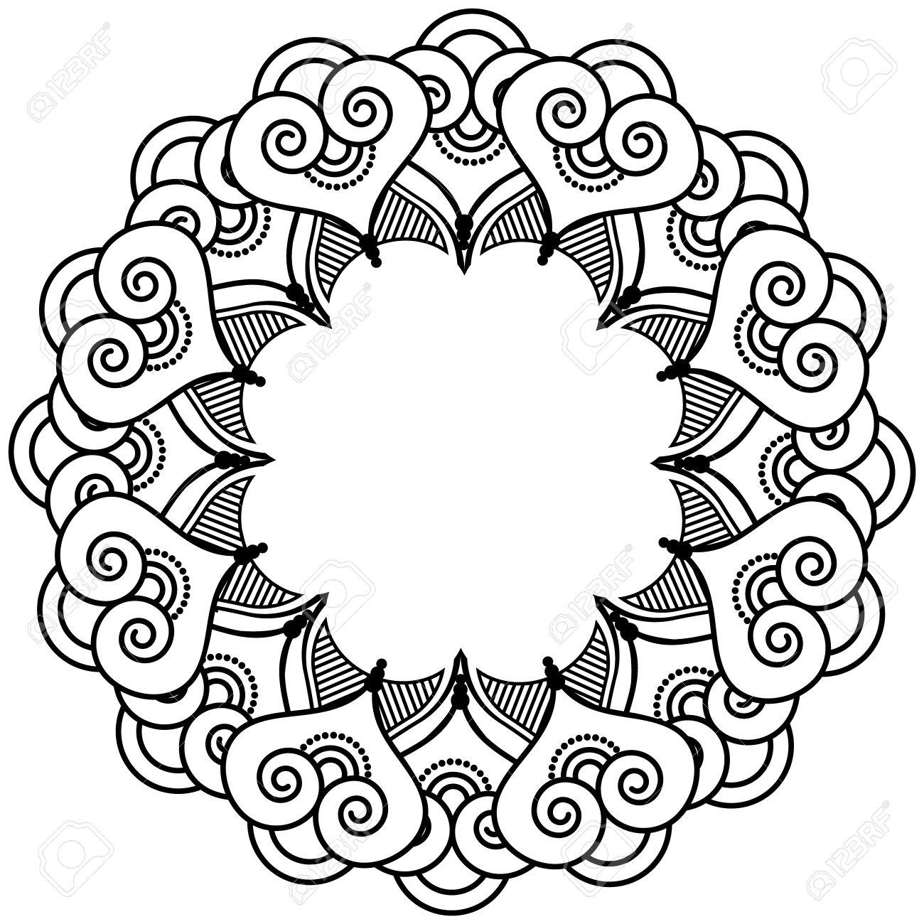 indian henna tattoo inspired flower shape with inner floral star rh 123rf com Henna Tattoo Henna Drawings Designs