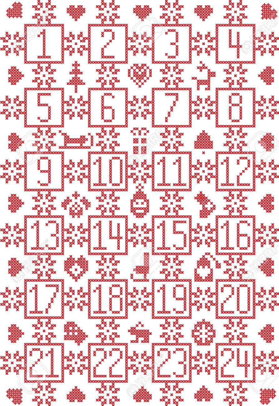 Scandinavian Inspired By Nordic Christmas Advent Calendar With ...