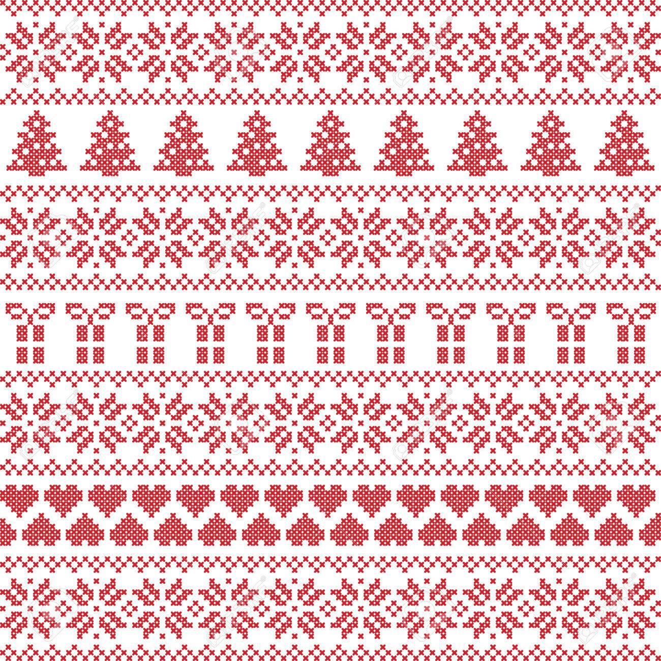 Scandinavian Style Nordic Winter Sweater Stitch Knit Pattern