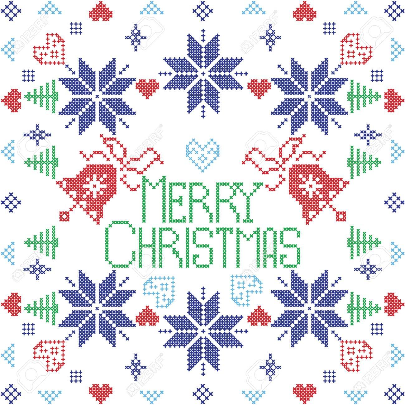 Feliz Navidad Estilo Escandinavo Puntada Invierno Nórdico, Tejer ...
