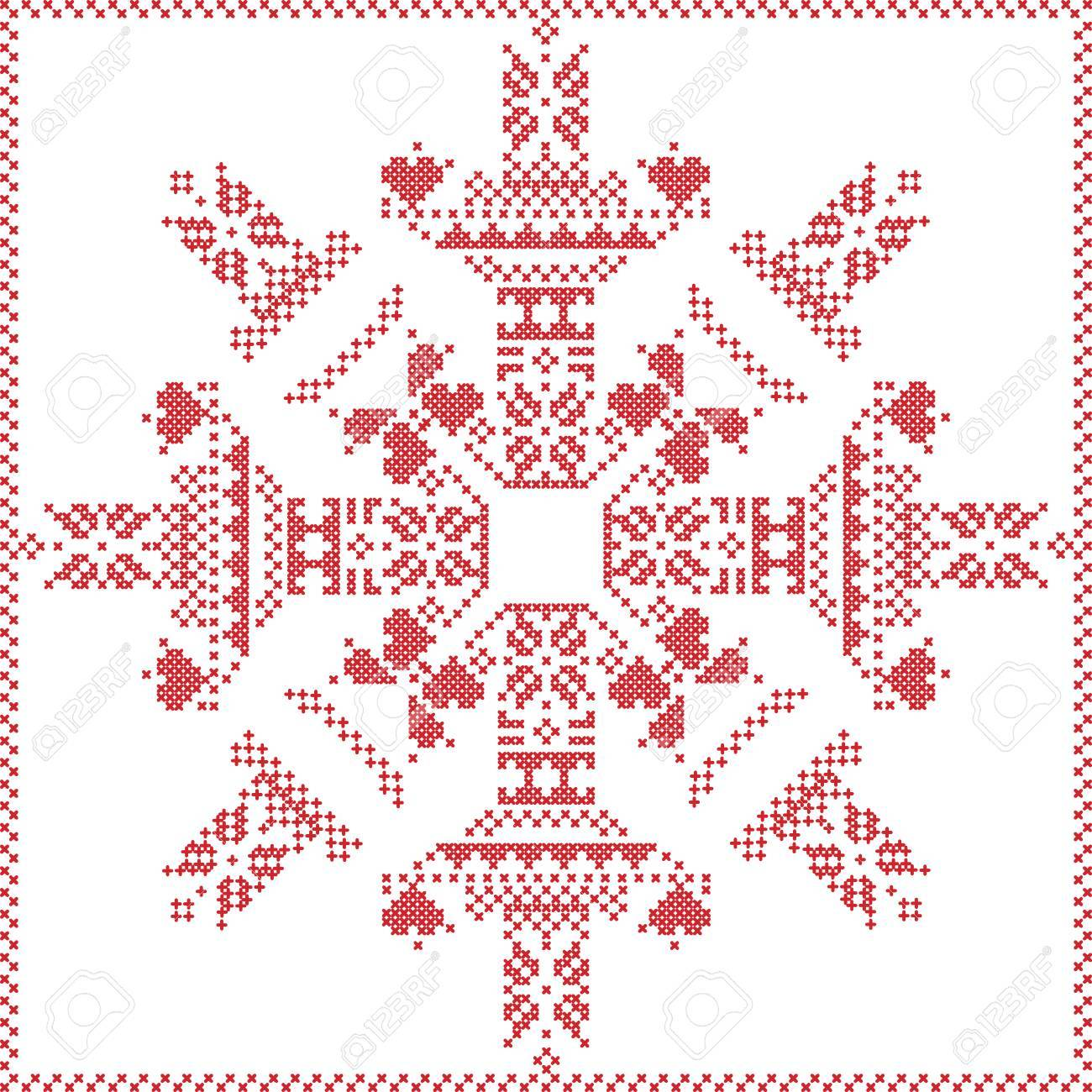Scandinavian Nordic Winter Stitch, Knitting Christmas Pattern ...