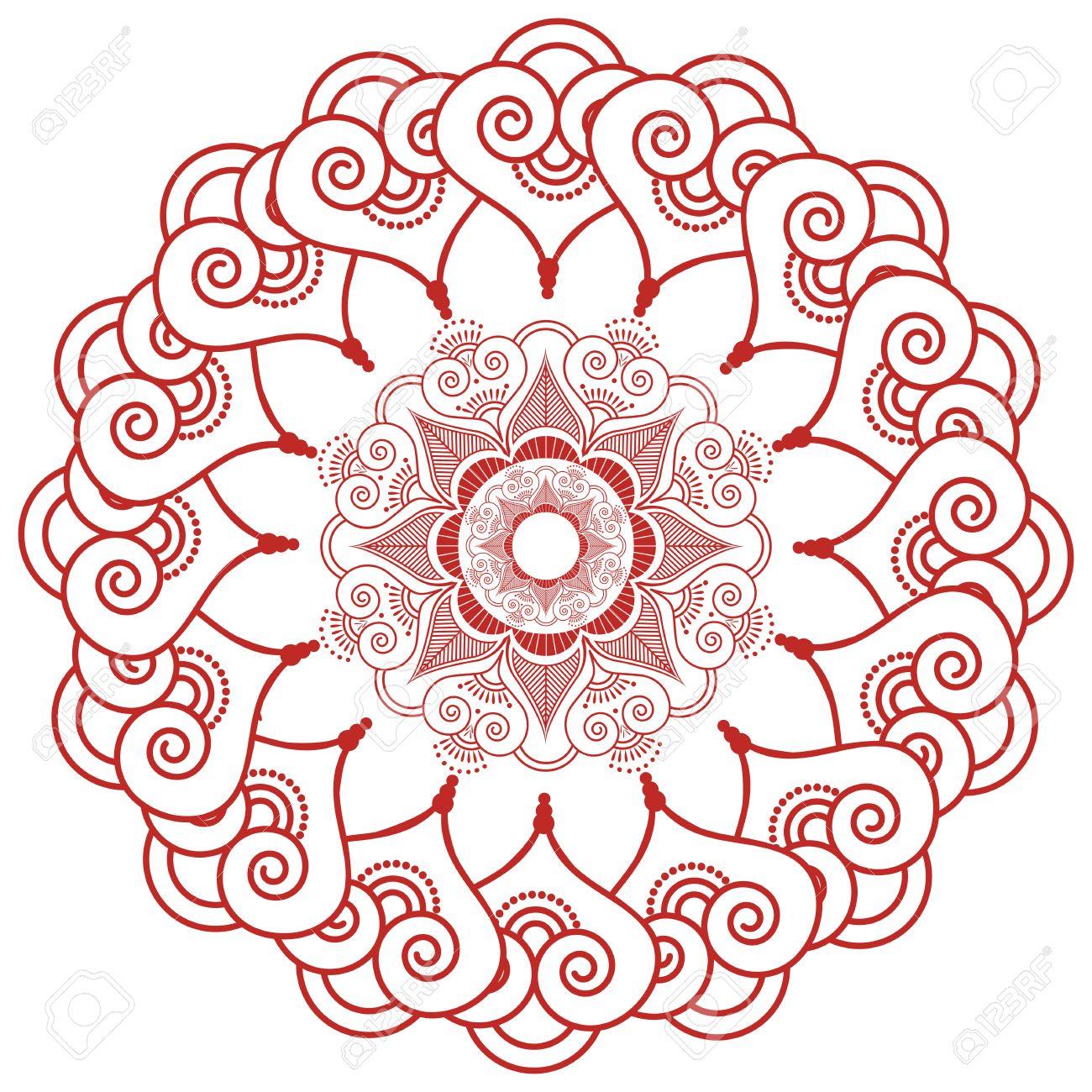 La Decoración Del Cordón De Tatuajes De Henna Mandala De Maquillaje