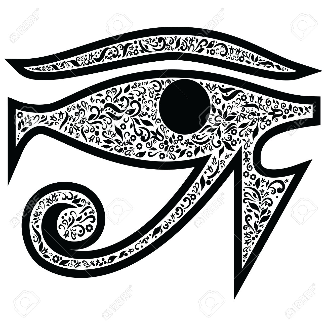 Evil eye with floral elements in black and white tattoo style evil eye with floral elements in black and white tattoo style middle eastern religious amulet biocorpaavc
