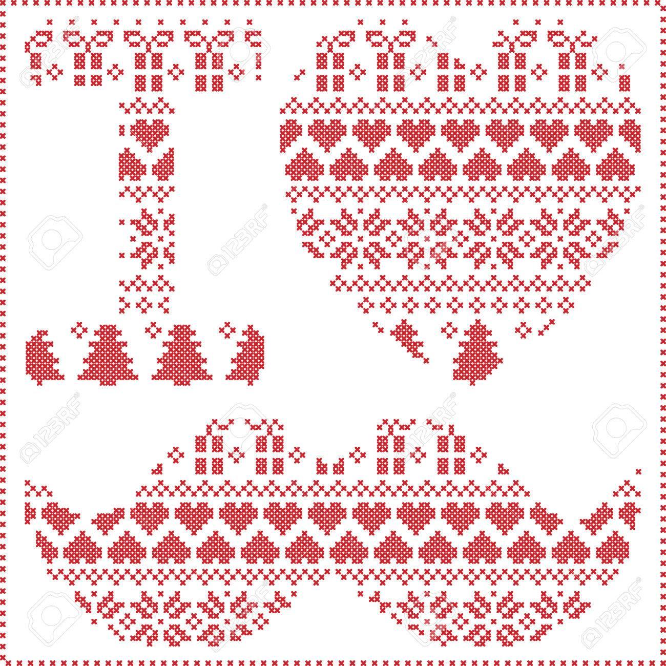 Me Encanta Patrón De última Moda En El Estilo Nórdico Navidad ...