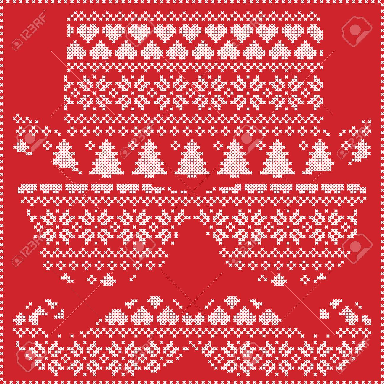Inconformista Patrón En Estilo Nórdico Navidad Costura Invierno ...