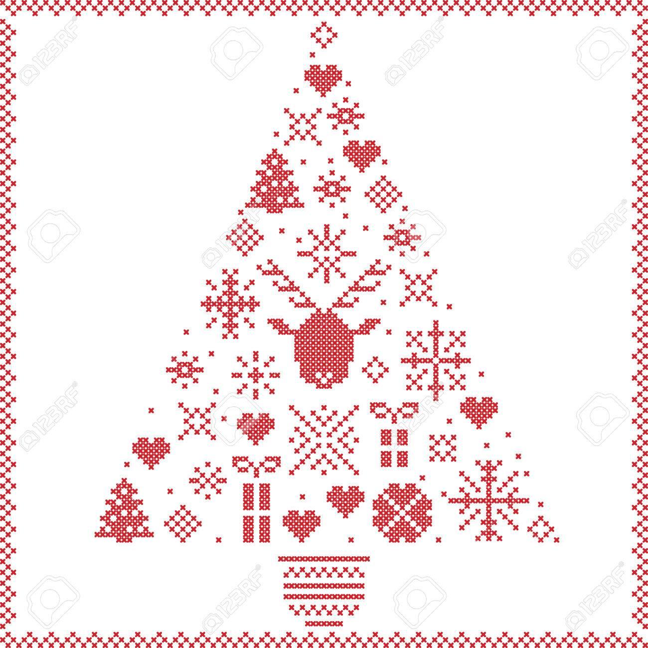 Patrón De Navidad Noruega Costura Invierno Estilo Escandinavo En ...