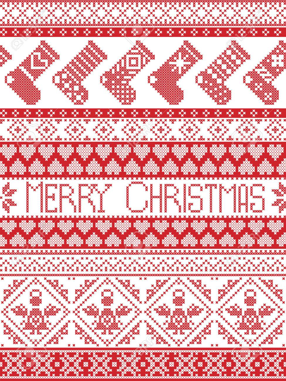 Merry Christmas In Norwegian.Merry Christmas Tall Scandinavian Printed Textile Style And Inspired